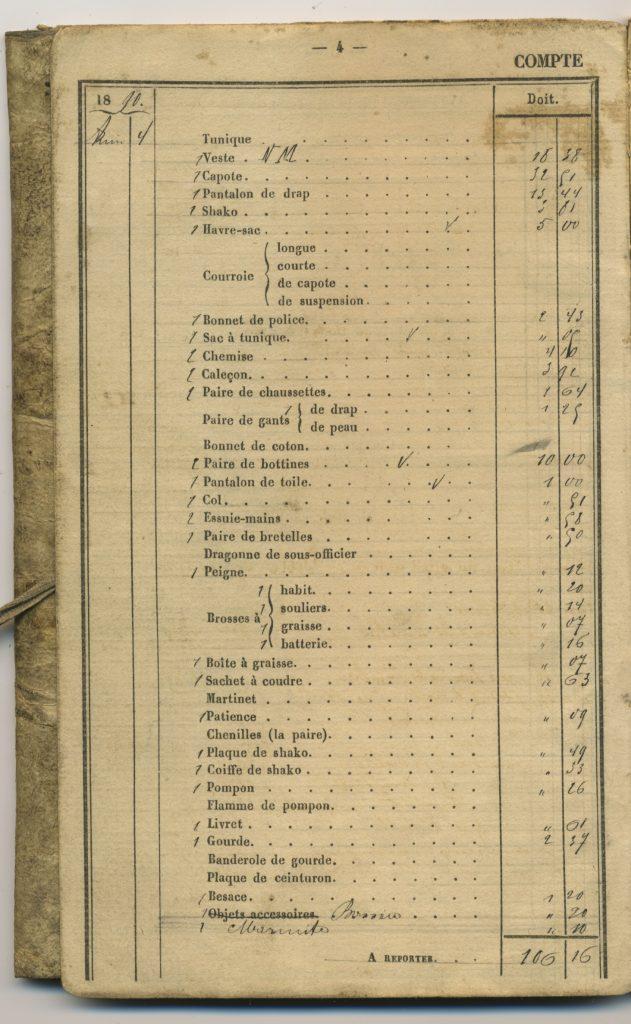 militair zakboekje uit 1890