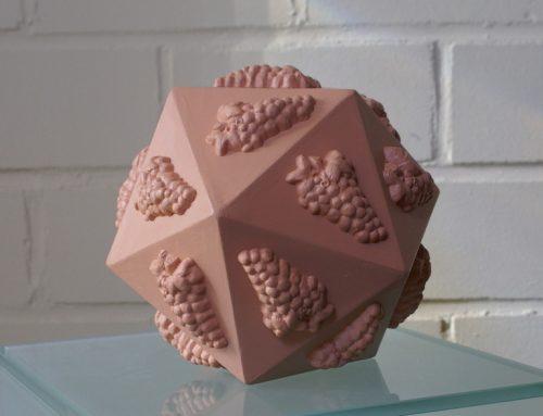 Icosaëder in imitatie-terracotta